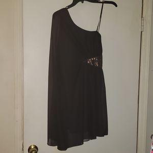 Xoxo black one shoulder dress